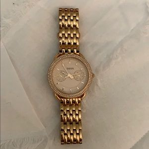 0dc7852cacf Fossil Accessories - Women s Rose Gold Tailor Fossil Watch